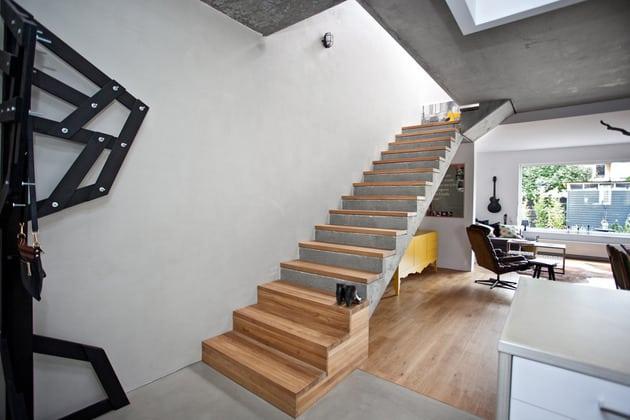 Escalier avec finition en bois