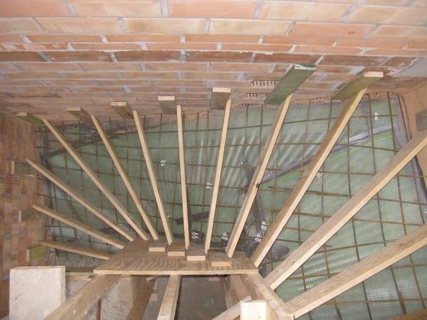 Moule d'un escalier en béton